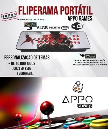 Fliperama Portátil 10 Mil Jogos