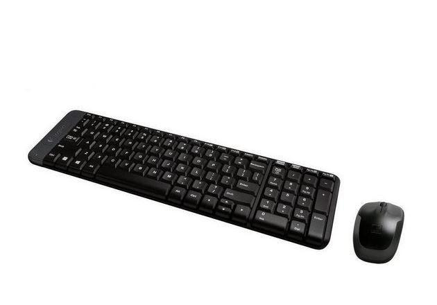 Kit Teclado/Mouse wireless MK 220 mult preto Logitech