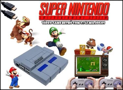 Mini Super Nintendo 2 Controles + De 9.000 Jogos 32gb
