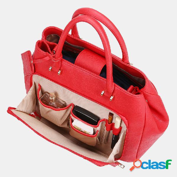 Mulheres Design Solid Handbag Multifuncional Crossbody Bolsa