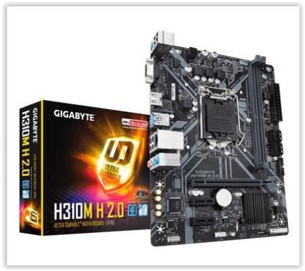 Placa-Mãe Gigabyte H310M H 2.0, Intel LGA 1151, mATX, DDR4