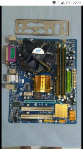 Placa mãe + processador + memória RAM