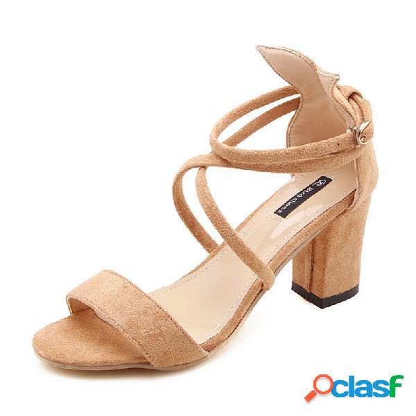 Sandálias de Salto Grosso para Mulher