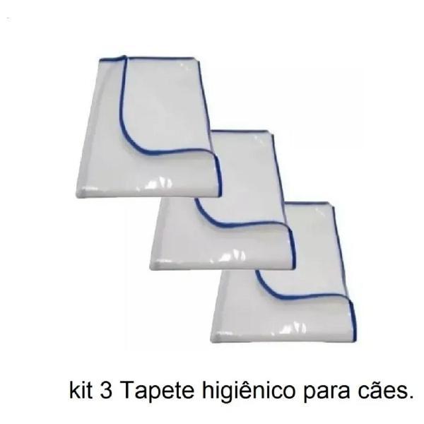 kit com 3 tapete lavável higiênico para cães cachorro