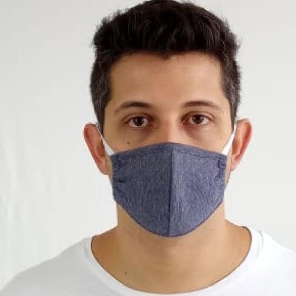 máscara de proteção facial dupla camada