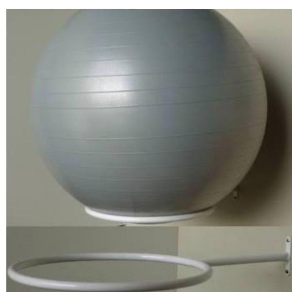 suporte de parede para bola de pilates