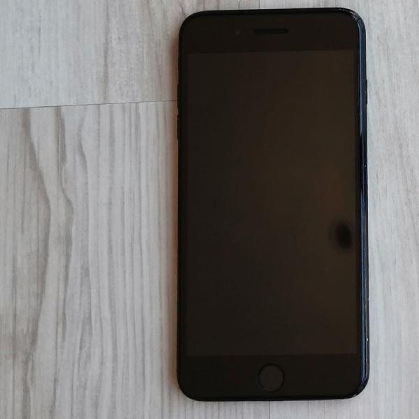 Apple iPhone 7 Plus Preto 256 gb com capa de couro e power
