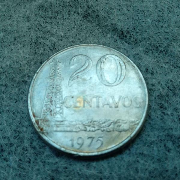 Moeda De 20 Centavos de 1975