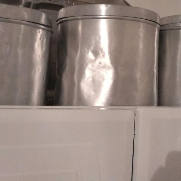 Porta mantimentos 3 potes alumínio