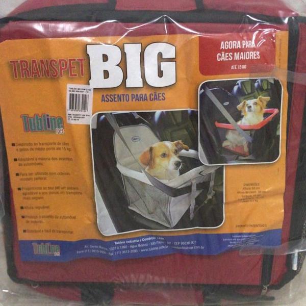 assento banco para cachorro para carro transpet big