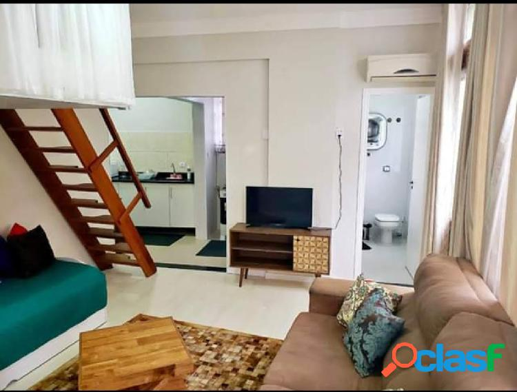 Lindo apartamento Sala living mobiliado e decorado com vista