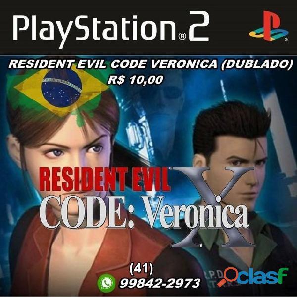 resident evil 4 ou code veronica dublado (PS2)