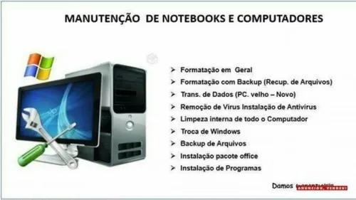 Formatação E Manutenção De Computador E Notebook.