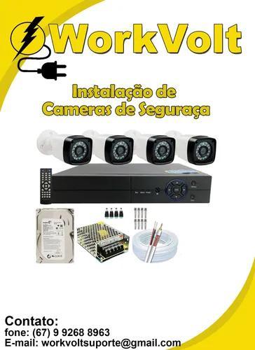 Instalação De 4 Câmeras De Segurança