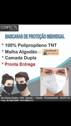 Mascara TNT dupla / máscaras de malha