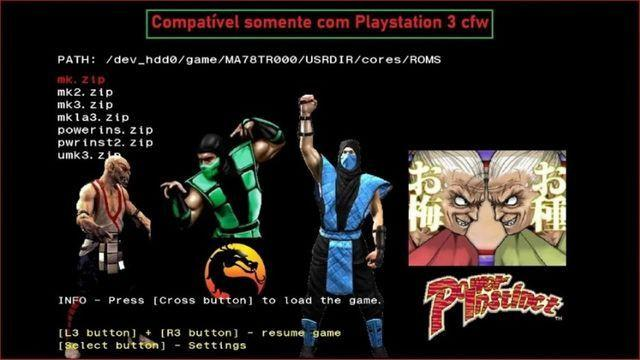 Mortal 1,2,3, Ultimate, Power Instinct 1,2 Ps3 Cfw