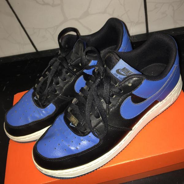 tênis nike air force 1 masculino - azul e preto