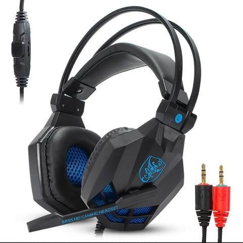 Headset Gamer Estéreo Celular Bass Hd Microfone Pc Notebook