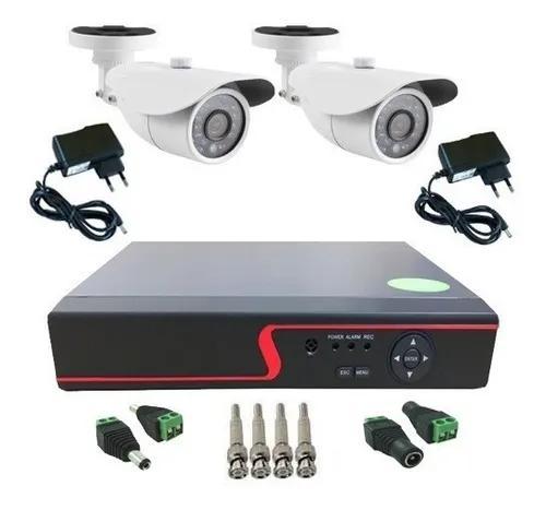 Kit 2 Câmeras De Segurança Infra Ahd 1.3 Mp Dvr Multi Hd