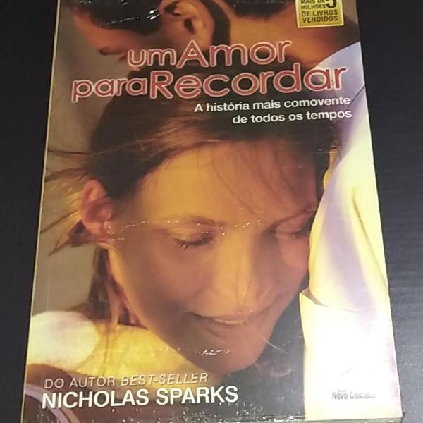 """Livro """"Um Amor Para Recordar"""" Nicholas Sparks"""