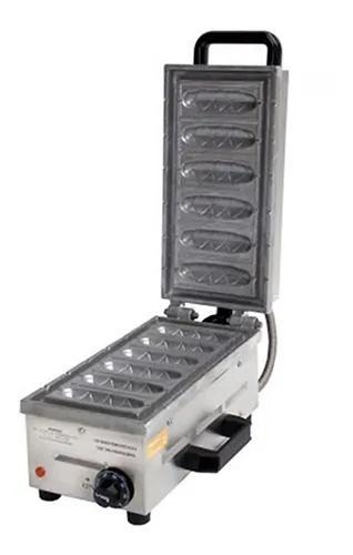 Máquina De Crepe No Palito 6 Cavidades Elétrica Ad