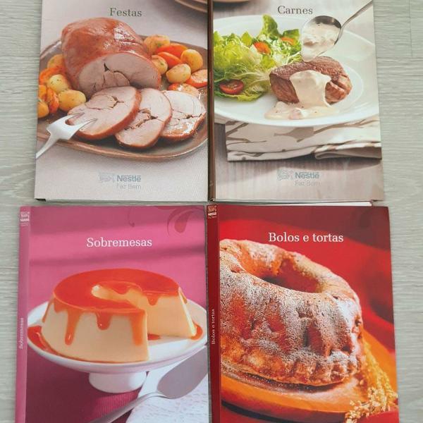 coleção com 5 livros de receitas nestlé. usados!