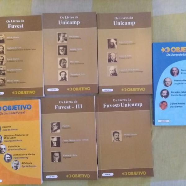 kit de 7 livros de português para estudo - enem, fuvest e