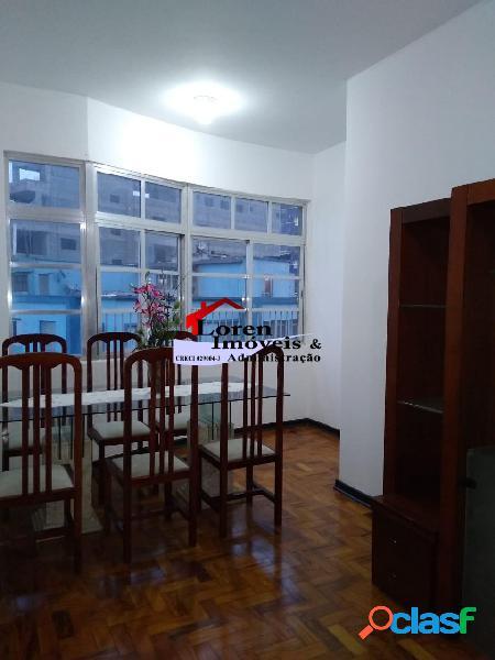 Apartamento 2 dormitórios frente ao Mar Itararé Sv!