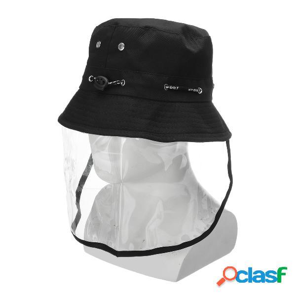 Protetor anti-cuspir Máscara Chapéu Tampão facial