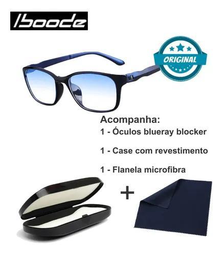 Armação Óculos Iboode Lentes Anti Raios Azul Blueray