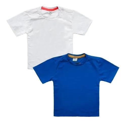 Kit 5 Camiseta Infantil Lisa Confortável Blusa Manga