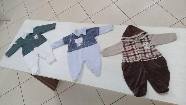 Lotinho de macacões para bebê menino
