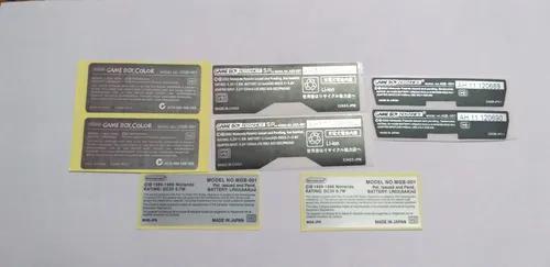 Adesivo Traseiro Game Boy Color Pocket Advance E Advance Sp