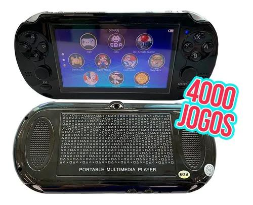 Kit 10 Mini Video Game Com 4 Mil Jogos Player Mp3 Mp4 Mp5