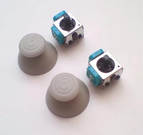 Kit 2 Capas + 2 Analógicos Controle Gamecube (cinza)