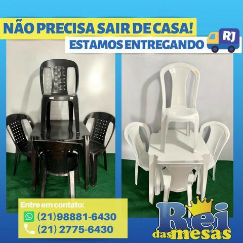 Mesas e Cadeiras de Plastico(Conjunto de plastico)