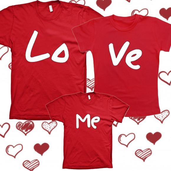3camisetas Love Me vermelha 100% algodão