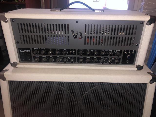Amplificador Valvulado Carvin V3 (Cabeça e Caixa) - Branco