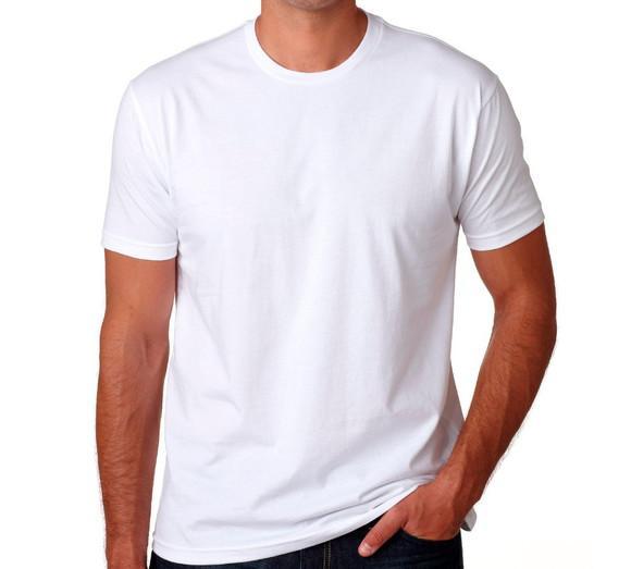 Camiseta masculina básica manga curta gola redonda branca