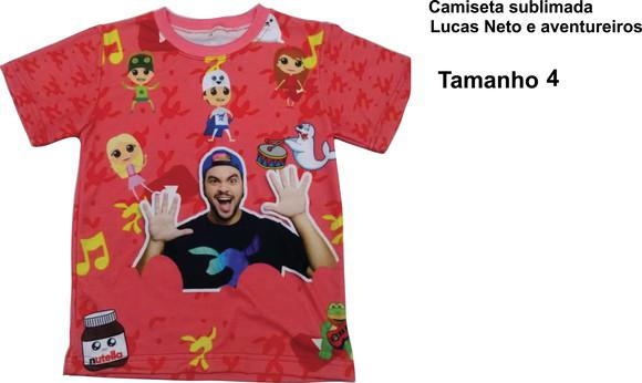 Camisetas Infantil.SUBLIMAÇÃO TOTAL. LUCAS NETO