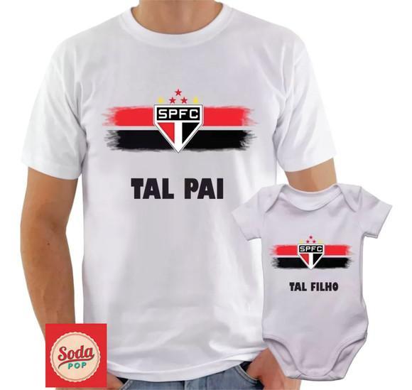 Kit Camisa + Body Time São Paulo Tal Pai Tal Filho Futebol