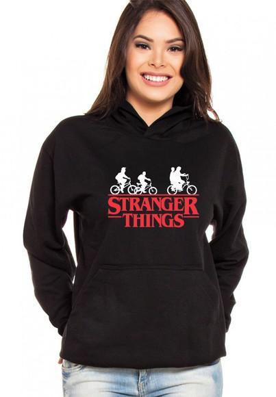 Moletom Canguru Feminino Stranger Things