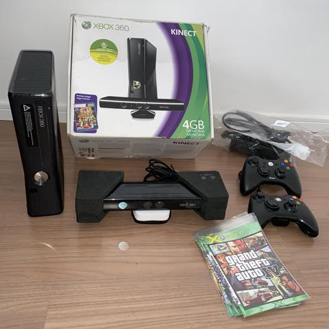 Xbox 360 destravado 2 controle kinect