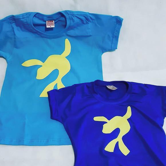 camiseta camisa azul lucas neto - foca