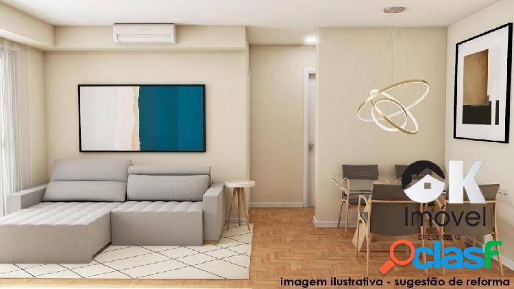 Apartamento Reformado: 69m², 1 quarto e 1 vaga – Jardim