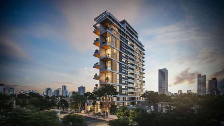 Apartamentos de 145 m² com 3 suítes e pé direito duplo