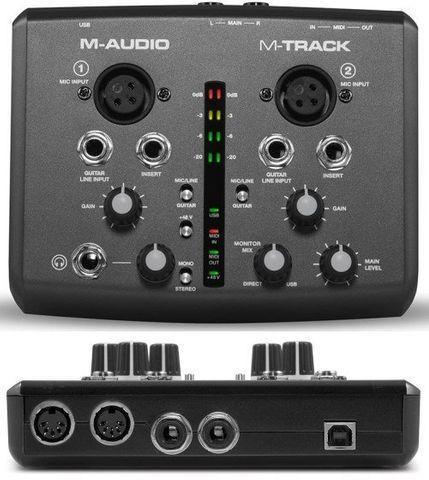 Interface de audio M Track da M Audio 2 canais com defeito