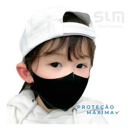 Kit 3 Mascaras Infantil Reutilizável Camada Proteção