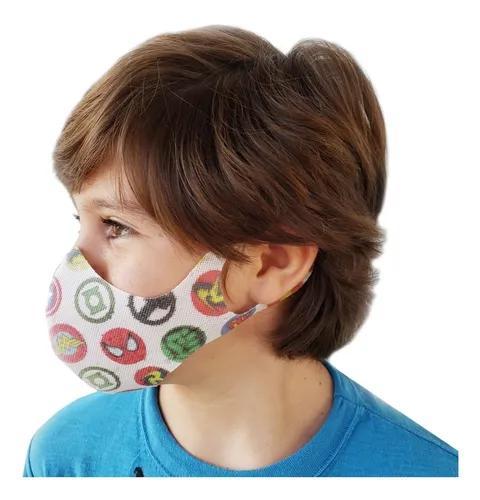 Máscara De Proteção Lavável Tnt Infantil Estampada