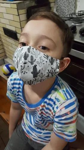Máscara De Proteção Reutilizável Infantil